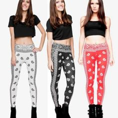 Bandana Leggings comes in 3 different colors