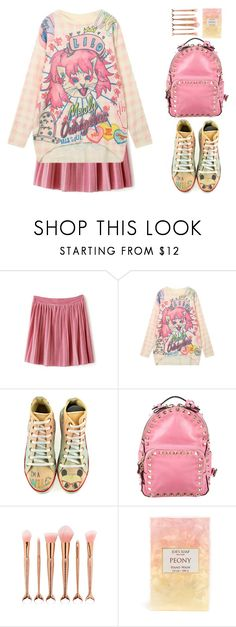 """""""Untitled #564"""" by justkejti ❤ liked on Polyvore featuring Valentino, Pink, pleatedskirt and zaful"""