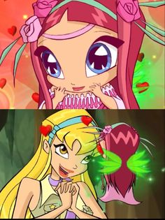 Stella and Amore 🌸 winx club Winx Club, Flora Winx, Looks Cool, Magical Girl, My Childhood, Fairy, Princess Zelda, Fan Art, Role Models