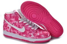 uk availability 66902 e81e2 Nike Sb Dunk High 2012 Cut Womens Shoes Canvas Paint Splatter Deep Pink  White