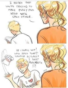 Haha way to go Jason! Even though I'm still torn... #percabeth #vs #percico