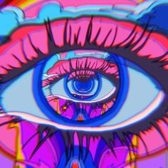 Psychedelic Aesthetic: You dont need to try a psychedelic to appreciate this awesome list of trippy visuals, optical illusions, & More! Glitch Art, Glitch Kunst, Psychedelic Art, Cyberpunk Aesthetic, Aesthetic Gif, Aesthetic Space, Aesthetic Drawing, Trippy Visuals, Beste Gif