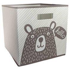Fabric Cube Storage Bin Bear - Pillowfort™