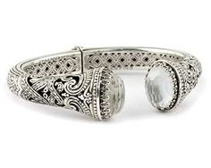 Konstantino bracelet - Sterling Silver and White Topaz