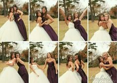 I hadn't thought of having a pic with each individual bridesmaid but I would love that!