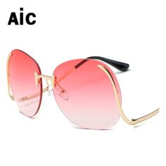 Discount  14.00, Buy Luxury Brand Design Aviator Sunglass Women Brand  Designer Mirror Vintage Retro Sun e402a4915a