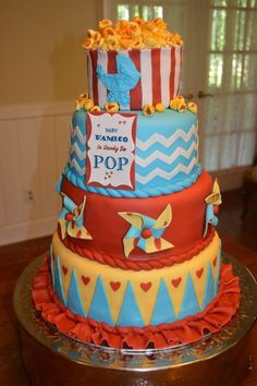 #DIYBaby Carnival Baby Shower Cake