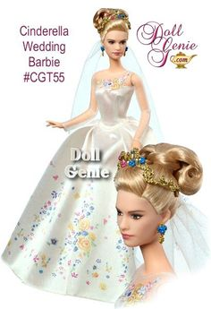 A beloved fairy tale comes to life in Disney\'s new Cinderella live action movie! This exquisite Disney Cinderella Wedding Day Barbie doll