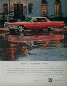1965 Cadillac Car Ad Vintage Ephemera Advertisment Wall by Inkart, $3.00