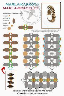 bead pattern, superduo, bead bracelet, ewa gyöngyö, pulsera, bracelet patterns, pearl bracelet, bead tutori, jewelri
