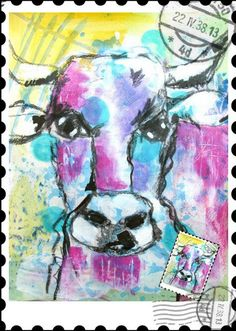 """froebelsternchen: DAY 4 of """"POST & POSTAGE"""" over at Art Journal Journey"""