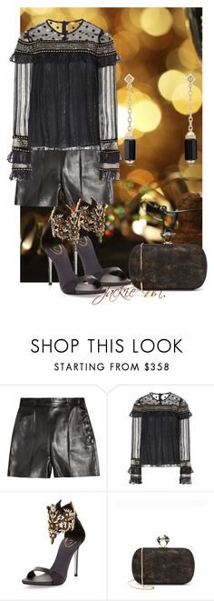 """""""Happy New Year"""" by jackie-mallet ❤ liked on Polyvore featuring Valentino, Dodo Bar Or, René Caovilla, Diane Von Furstenberg and David Yurman"""