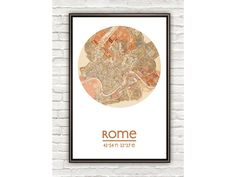 This city map poster: | 29 Gifts For Anyone With Major Wanderlust