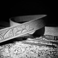 Work in progress. Another mandala style belt.  #leather #leathercraft #leathergoods #handtooled #handmade #tomian_handmade #tomian #leatherbelts #handcraft #mandala #leathercarving