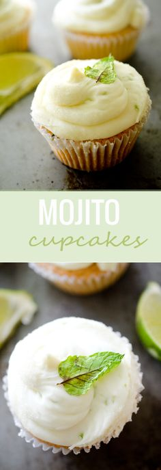 Mojito Cupcakes - your favorite drink in one sweet cupcake! - Recipe Diaries