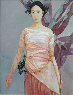 Xue Mo (b1966 In Inner Mongolia, China; based In Canada) #figurative #portrait #art