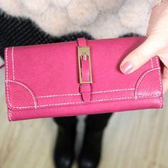 Buckle Hasp Long Lady Purse Wallet