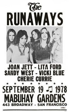 The Runaways gig poster (1978)