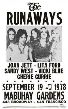 1978 Tour Poster - The Runaways