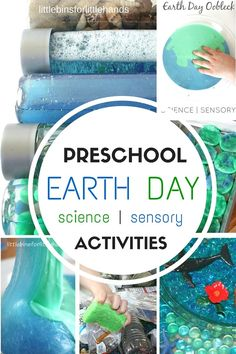 Make simple Earth Day discovery bottles for exploring science concepts. Earth day discovery bottles are great for preschool science and sensory play! Kid Science, Preschool Science, Preschool Classroom, Earth Science, Science Experiments, April Preschool, Space Preschool, Preschool Curriculum, Teaching Kindergarten