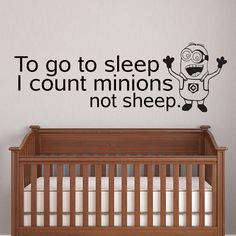Despicable Me baby nursery wall decal children's by HappyWallz, $29.99