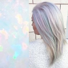 Opal luminosity by @rossmichaelssalon. #opalhair #pastelhair