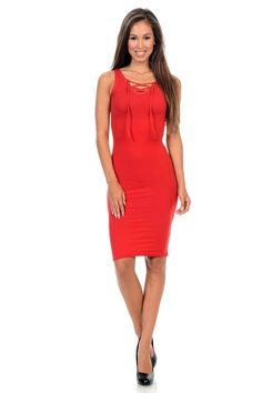 Diamante Fashion Women's Dress Get it Choosy, Large / Red Casual Office Attire, Women's Fashion Dresses, Online Boutiques, Dress Making, Womens Fashion, Fashion Trends, Bodycon Dress, Dresses For Work, Clothes For Women
