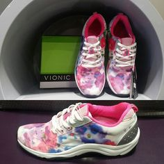 How amazing are these sneakers from Vionic?! Love this brand new spring style now in stock at our Sherwood Park location - included in our early bird special 10% off Vionic this weekend only!