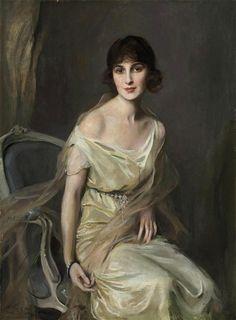 Philip Alexius de Laszlo - Portrait of Dona Maria Mercedes de Alvear
