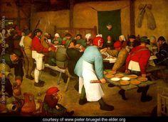 Peasant Wedding, c. 1568 - Pieter the Elder Bruegel - www.pieter-bruegel-the-elder.org