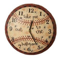 Primitive Baseball Wall Clock Man Cave Game Room Boys Decor Distressed Vintage For my baseball mom friends Plywood Furniture, Baseball Wall, Baseball Stuff, Baseball Crafts, Baseball Mom, Baseball Jewelry, Baseball Wreaths, Baseball Signs, Baseball Quotes