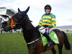 Barry Geraghty & Jeski following their win in the 2014 Champion Hurdle at Cheltenham.