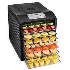 Magic Mill Professional Food Dehydrator 9 Stainless Steel Drying Racks Food 2 for sale online Food Dehydrator Reviews, Best Food Dehydrator, Dehydrator Recipes, Electric Foods, Kitchen Shop, Plastic Trays, Dehydrated Food, Clean Dishwasher, Small Meals