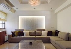 Living room creative wall design by new classical style