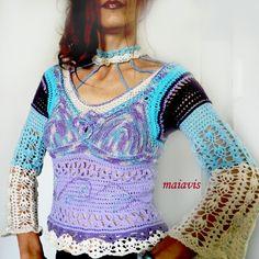 blouse crochet handmade women fashion women clothing