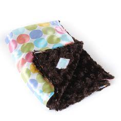 Dots & Pastel Cozy Baby Blanket