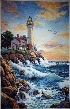 Brilliant Cross Stitch Embroidery Tips Ideas. Mesmerizing Cross Stitch Embroidery Tips Ideas. Easy Cross Stitch Patterns, Simple Cross Stitch, Cross Stitch Kits, Cross Stitch Designs, Lighthouse Photos, Lighthouse Art, Cross Stitching, Cross Stitch Embroidery, Arte Van Gogh