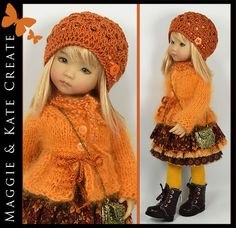 FALL Orange Angora Outfit Little Darlings Dianna Effner 13  Maggie & Kate Create