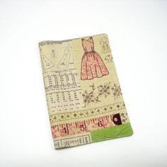 Fabric covered dressmaker notebook