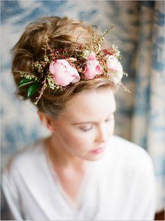 flower wedding halo