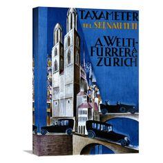 Global Gallery Taxameter A Welti-Furrer AG / ZURICH Canvas Wall Art - GCS-294619-22-142