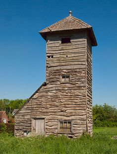 A quaint wooden-clad water tower at Goodworth Clatford in Hampshire    		Built in 1936, the tower is currently for sale with 0.5 Hectares of  land for £175,000