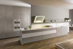 KH Küche: Beton Hellgrau, Pianovo Lackmatt Alpinweiss / KH kitchen: Concrete light grey, Pianovo Lackmatt Alpine white Interior Design Kitchen, Double Vanity, Bathroom, Design Ideas, Grey, Washroom, Full Bath, Kitchen Interior, Bath