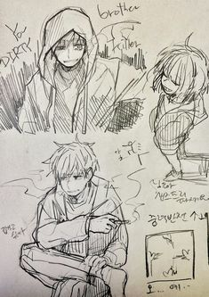 Human!/Genocide! Sans / Human! Sans and Frisk   Artist RyuO