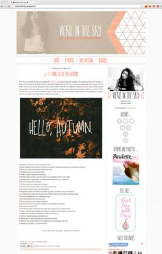 I like the fonts used in this blog design