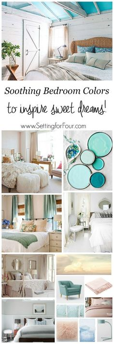 DIY home decor projects : Soothing Bedroom Color Schemes: Looking for color inspiration for your bedroom? See these relaxing paint colors and color palettes to inspire sweet dreams!settingforfou… -Read More – Home Bedroom, Bedroom Decor, Master Bedroom, Bedrooms, Bedroom Ideas, Greige, Bedroom Color Schemes, Calming Bedroom Colors, Soothing Paint Colors