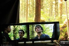 """The 100 - Ep 203 - """"Reapercussions"""" - Behind-The-Scenes Deep in the woods, Bob Morley and Richard Harmon wait for action… Hashtag: Mosquitos."""