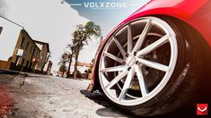 Red Audi with Brushed Vossen CVT Wheels - Photo by Vossen Red Audi, Custom Wheels, Military Discounts, Audi A4, Beetle, Eye Candy, Vw Bugs, June Bug, Beetles