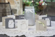 Cute Jar note cards.  - So Shelli Blog Stampin' Up!
