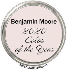 2020 Color of the Year First Light by Benjamin Moore First Light Color of the Year 2020 belongs to the Red Hue Family. It's a warm, pale color of pink with a fair amount of colorfulness; Pink Paint Colors, Favorite Paint Colors, Bedroom Paint Colors, Interior Paint Colors, Paint Colors For Home, Wall Colors, House Colors, Light Pink Paint, Beige Paint